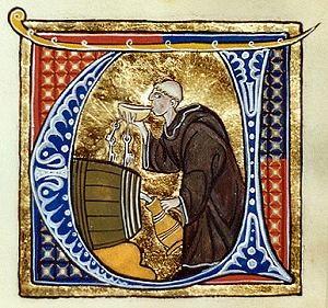 Le moine sur enluminure