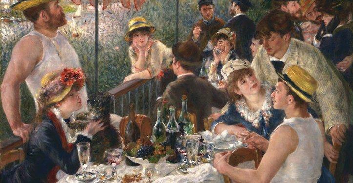 Le repas peint par Renoir