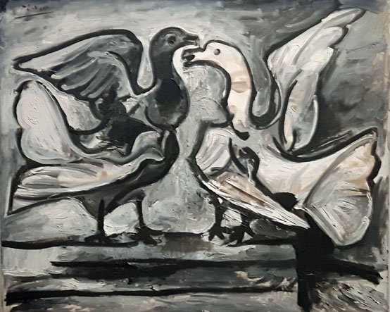 Pablo-Picasso---Deux-pigeon