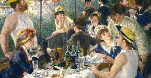Renoir le déjeuner des canotiers, 1880