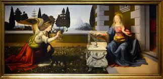 Léonard de Vinci L'annonciation